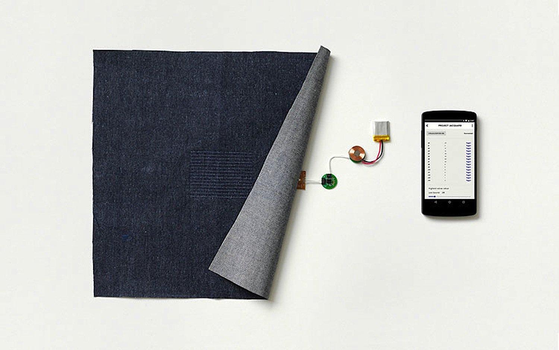 Touchpadgewebe von Google: Die Elektronik ist so klein, dass sie für den Träger kaum zu spüren ist.