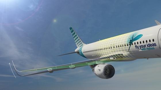 """Beim internationalen Wettbewerb """"Fly your ideas"""" von Airbus siegten fünf Inder mit ihrem Konzept, aus den Schwingungsbewegungen von Flugzeugtragflächen Strom zu erzeugen"""
