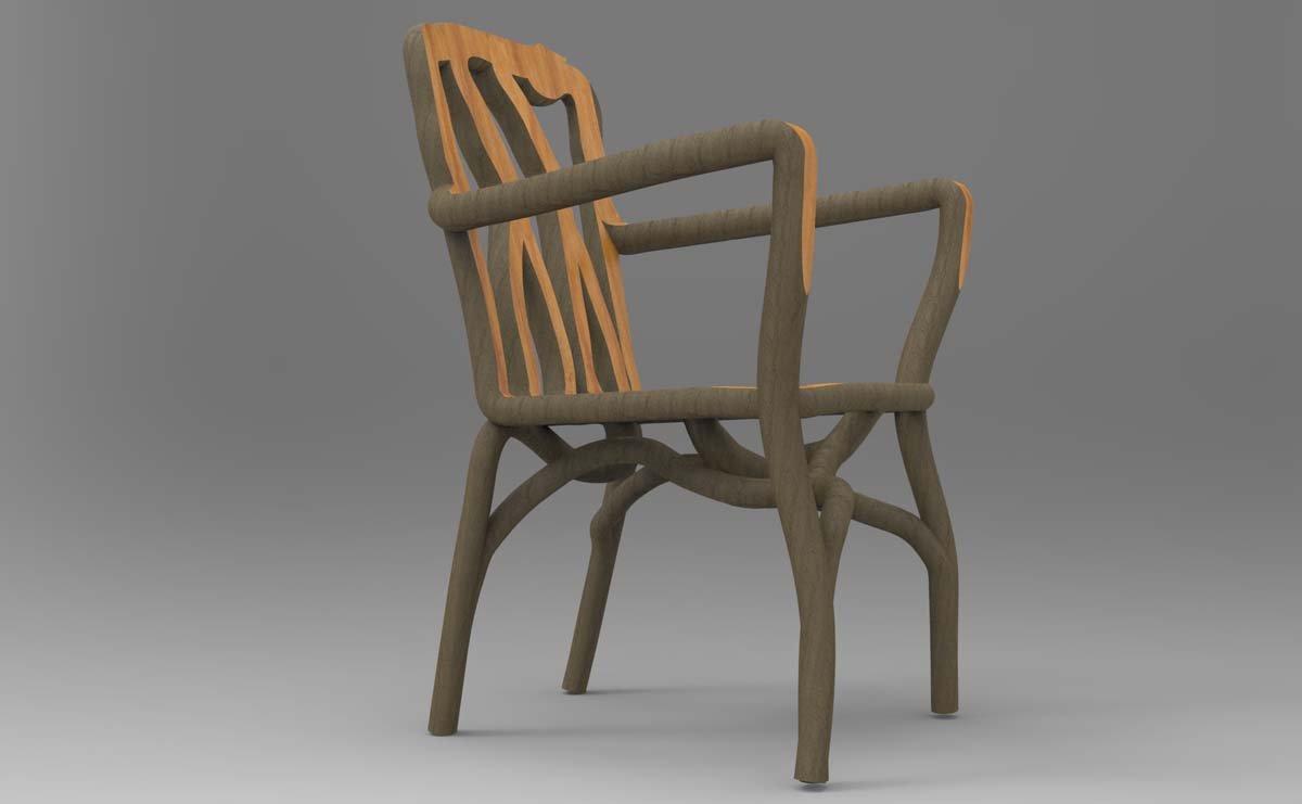 …und hier sehen Sie einen ausgewachsenen Stuhl.