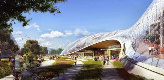 So soll die neue Google Zentrale im kalifornischen Mountain View aussehen.
