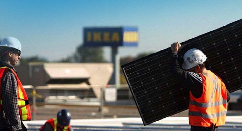 Ikea hat nach eigenen Angaben bereits 700.000 Solarmodule auf seinen Gebäuden installiert.