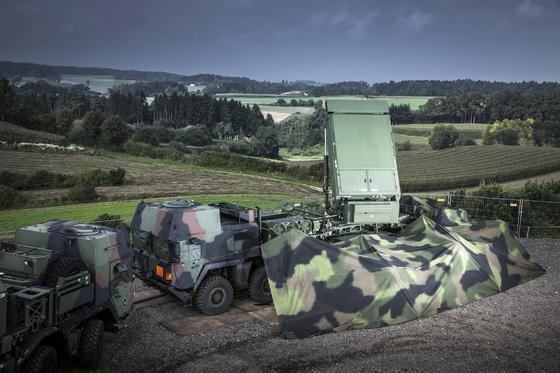 Das Flugabwehrsystem Meads verfügt über360-Grad-Radare und kann simultane Angriffe abwehren. An der Entwicklung war auch Deutschland beteiligt.