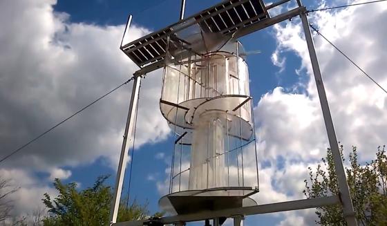 Die Windturbine Energy Tower: Sie arbeitet bei einer Lautheit von nur 8 dB und ist somit nahezu lautlos.