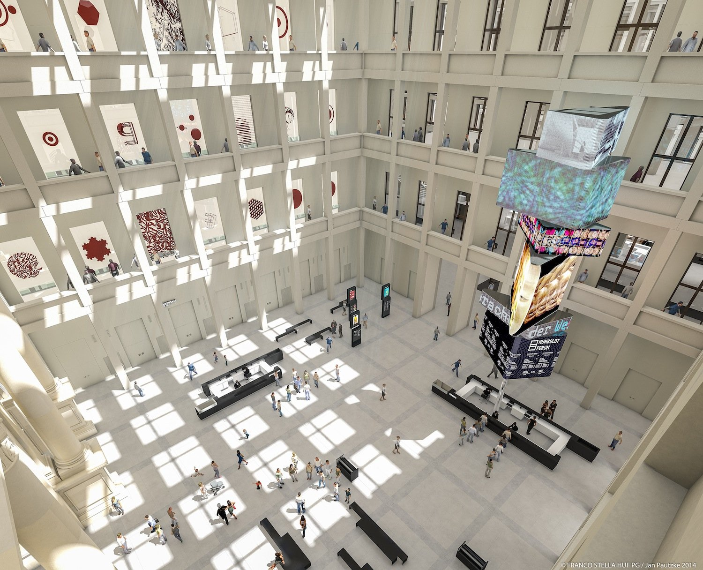 Blick ins geplante Foyer des Humboldt-Forums: 2019 soll das internationale Kunst- und Kulturzentrum eröffnen.
