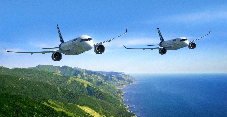 Auf der Paris Air Show präsentiert Bombardier die neuen Mittelstreckenflugzeuge CS100 und CS300. Sie sollen besonders leise und spritsparend sein.