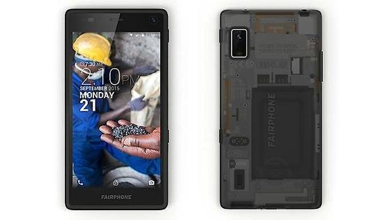 Beim Fairphone 2 liegt der Focus neben der fairen Gewinnung der Rohstoffe und der fairen Montage der Geräte auf der Langlebigkeit des Gerätes.