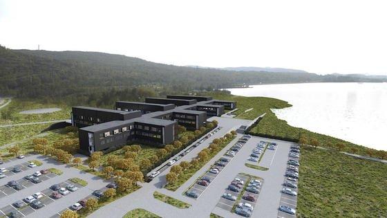 Geplantes Krankenhaus im nordnorwegischen Kirkenes: Es besteht aus 330 Modulen, die das deutsche Unternehmen Cadolto baut und verschickt.