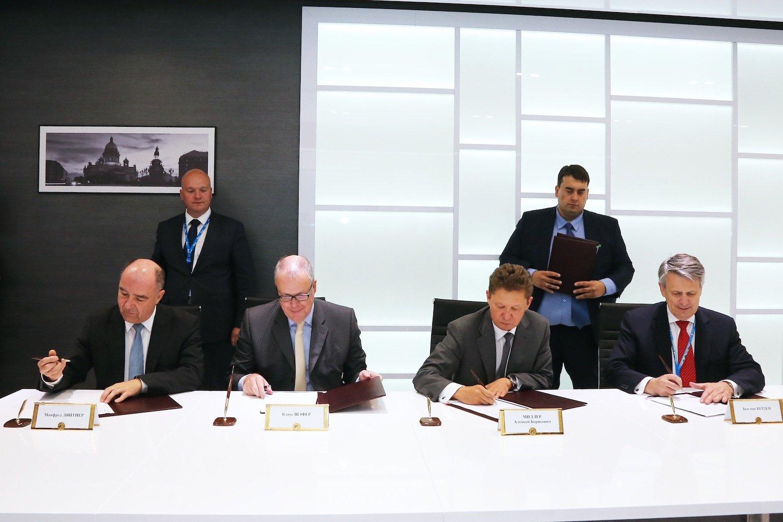 Eine Absichtserklärung zum Bau zwei neuer Leitungen durch die Ostsee haben die Unternehmen Gazprom, Shell, OMV und Eon in Sankt Petersburg unterschrieben.
