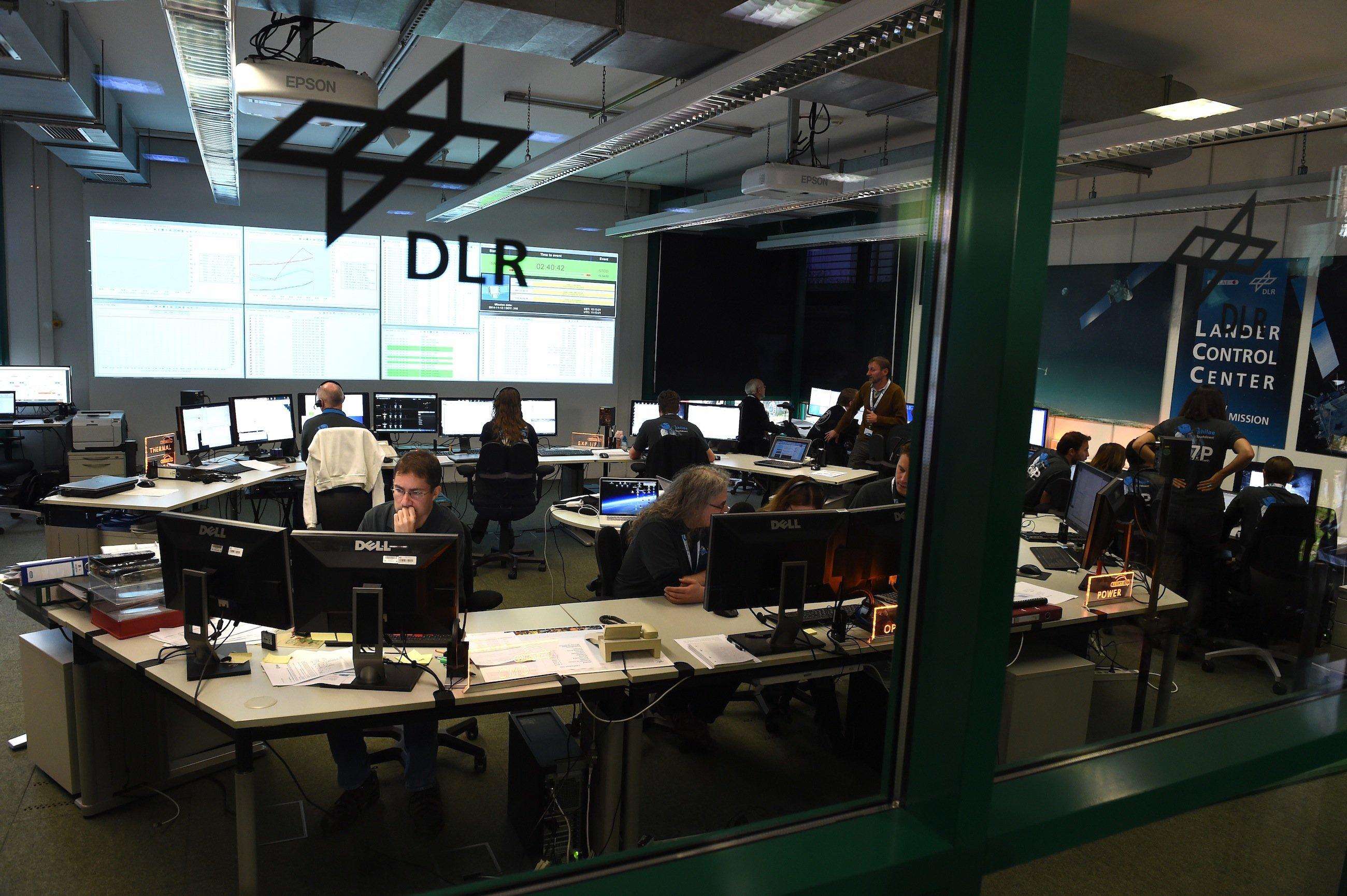 DLR-Kontrollzentrum in Köln: Von hier aus wird die Rosetta-Mission gesteuert.