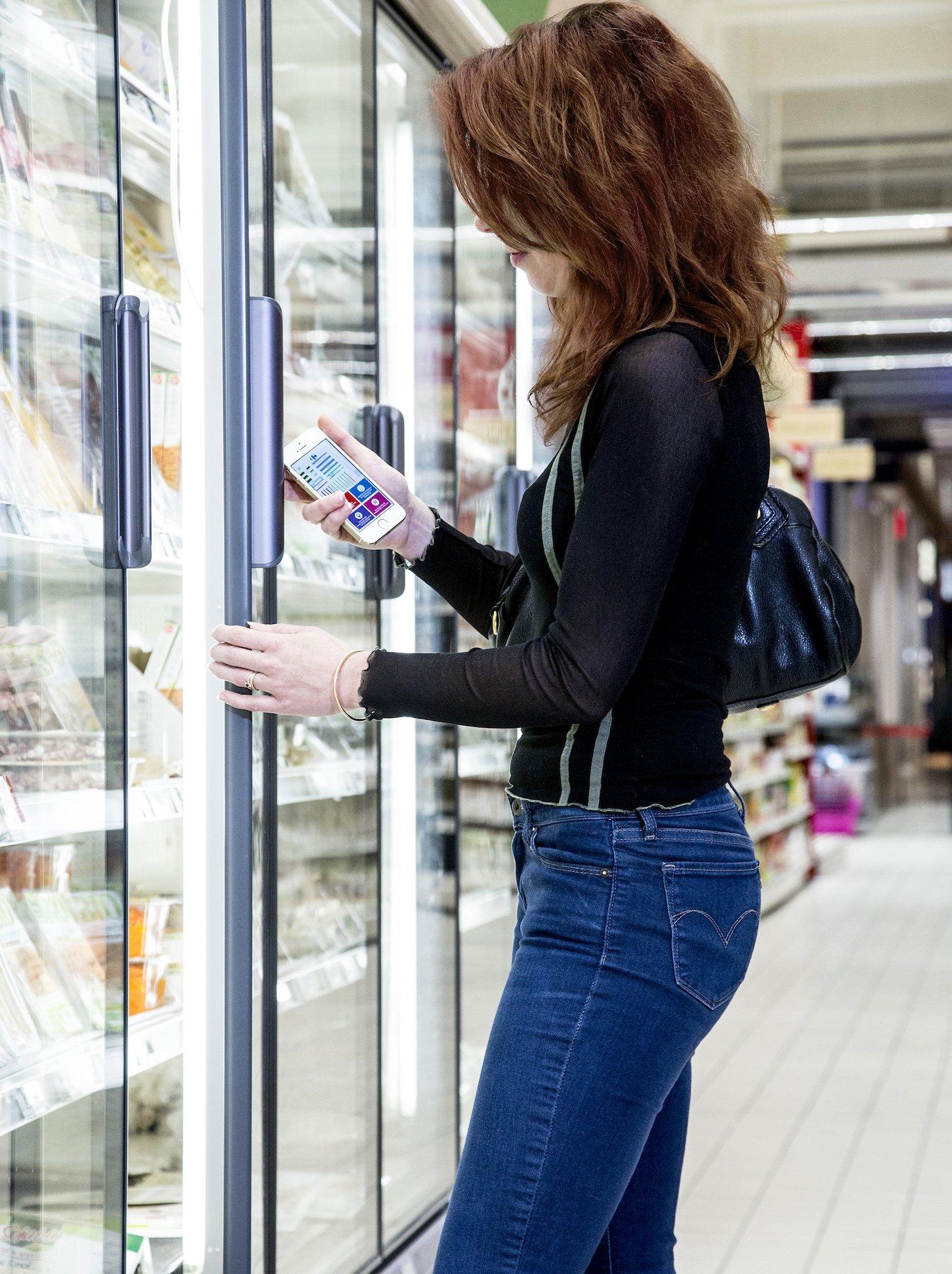 Kein Stress mehr beim Einkaufen: Mit dem Navigationssystem finden Kunden auch Sonderangebote.