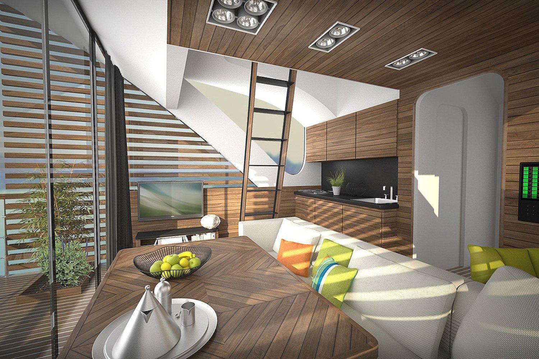 Illustration des Apartment-Inneren: Bis zu vier Personen können hier übernachten.