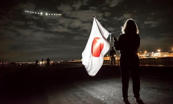 Start der Solar Impulse 2 im japanischen Nagoya: Fünf Tage und fünf Nächte wird Pilot André Borschberg unterwegs sein.<strong></strong>