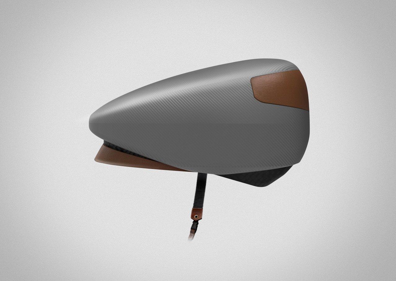 Die französischen Produktdesigner Renaud Dardaine und Maxime Le Ruyet haben den Helm Loki entworfen, der zugleich ein Fahrradschloss ist.