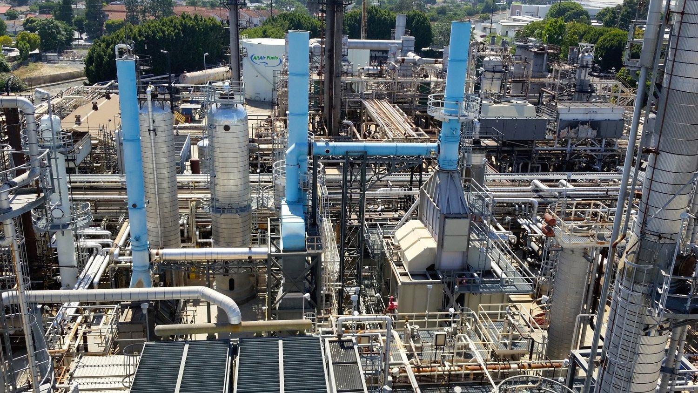 Raffinerie von AltAir Fuels: Hier wird Treibstoff ausaufgearbeiteten landwirtschaftlichen Abfällen und tierischen Fetten hergestellt.