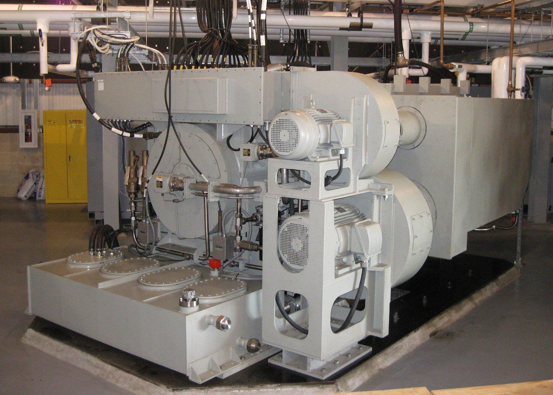 Der Generator des Electromagnetic Aircraft Launch Systems: Ein Start mit dem Elektrokatapult verbraucht so viel Strom wie 12.000 Haushalte.