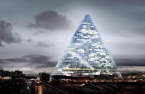 Tour Triangle: Der Eiffelturm in Paris bekommt Konkurrenz in Form einer 180 m hohen voll verglasten Pyramide.