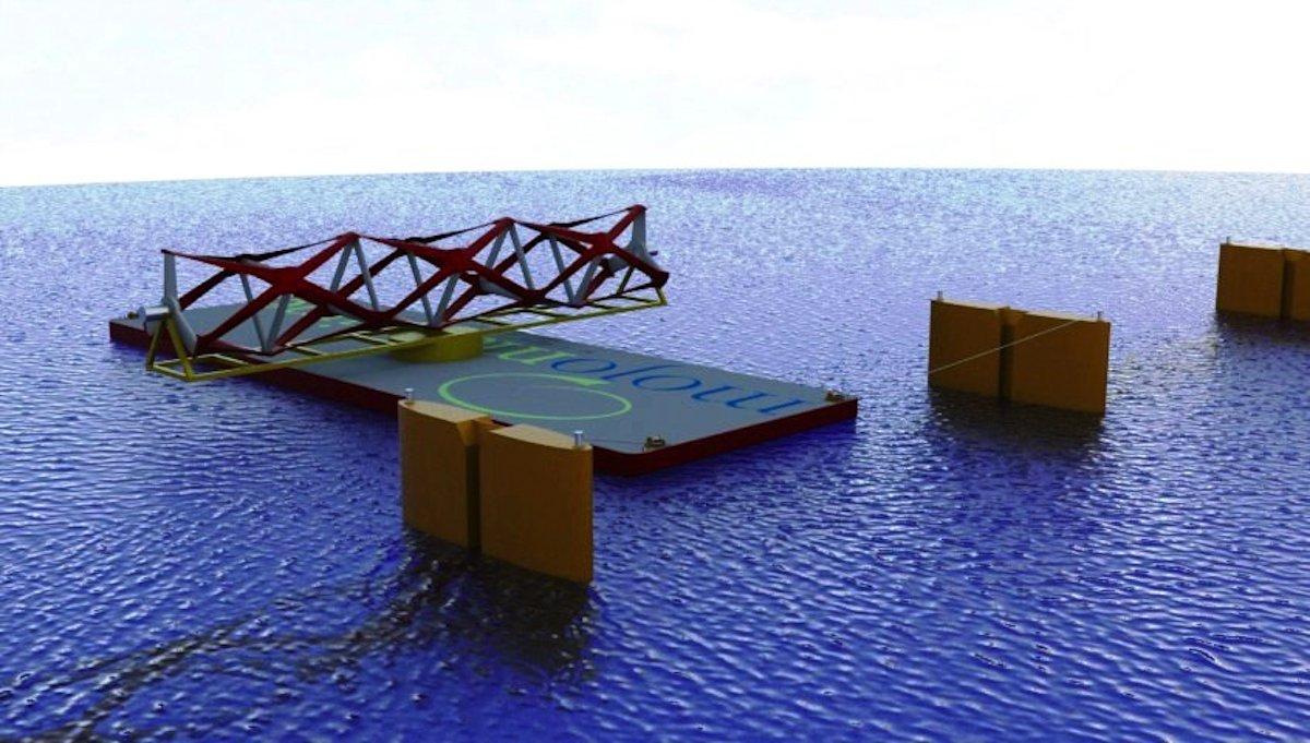 Für die Montage des Gezeitenkraftwerkes von Kepler Energy sind keine Spezialschiffe notwendig. Auch deshalb sollen die Kosten recht gering sein. Der Bau der 1 km breiten Anlage soll143 Mio. £ kosten.