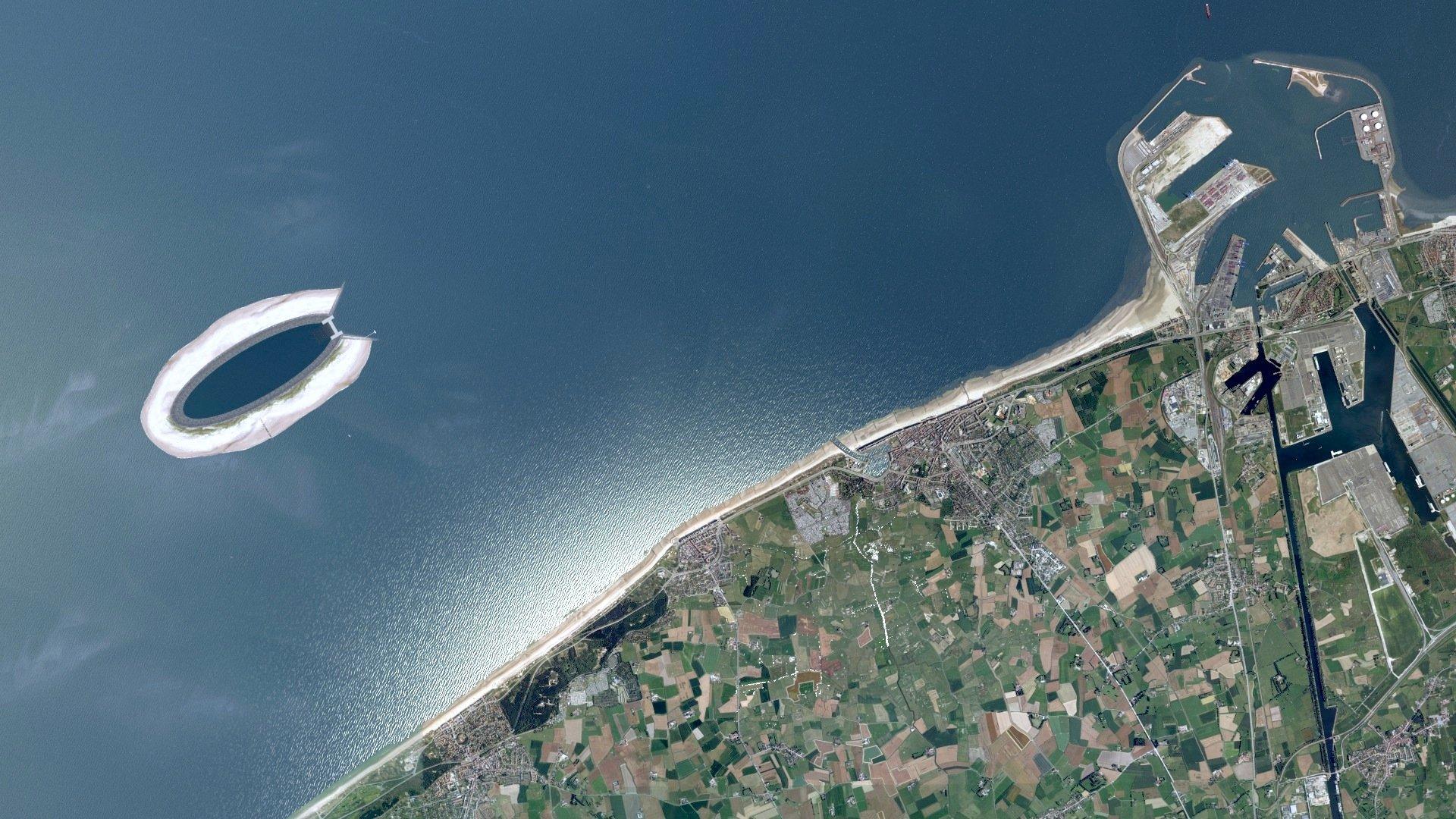 Das Pumpspeicherkraftwerk soll 5 km vor der belgischen Küste in Höhe der BadeorteDe Haan und Wenduineliegen.