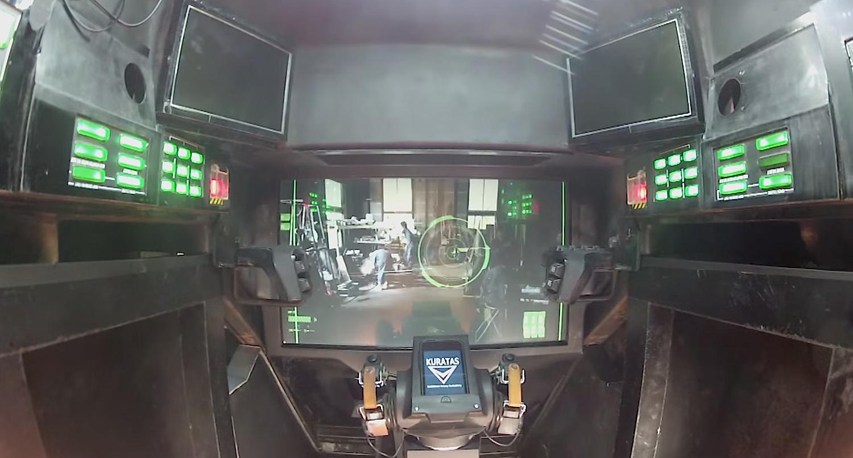 Im Cockpit von Kuratas: Der Pilot sieht die Außenwelt über ein Display.