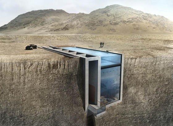 architekten wollen villa in den fels hoch ber rhodos schlagen. Black Bedroom Furniture Sets. Home Design Ideas