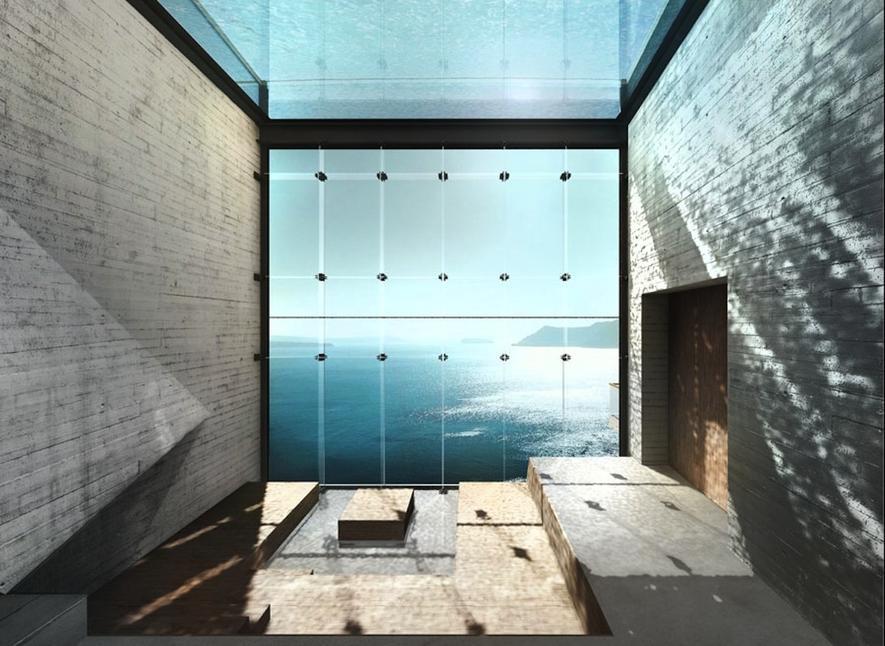 Architekten wollen Villa in den Fels hoch über Rhodos schlagen