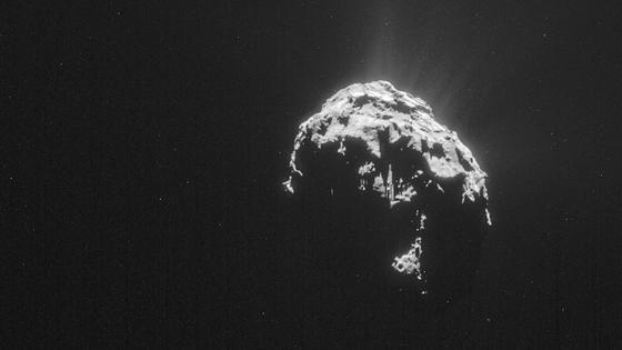 Sieht eher ungemütlich aus: Komet Tschuri. Britische Forscher halten die dortigen Lebensbedingungen für besser als in der Antarktis.