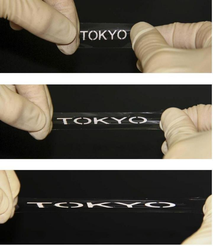 Die neue Tinte behält ihre hohe Leitfähigkeit auch dann noch, wenn das bedruckte Material bis auf das Dreifache der ursprünglichen Länge gedehnt wird.