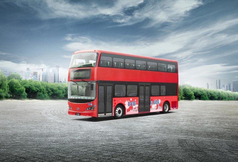 Der chinesische Auto-, Bus- und Batteriehersteller BYD liefert im Oktober die ersten Doppeldecker nach London mit reinem Elektroantrieb.
