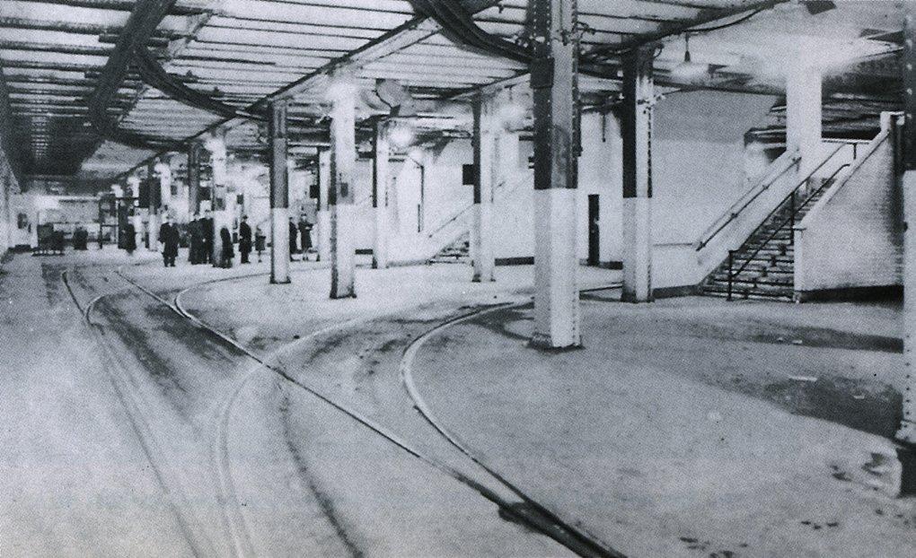 Anno dazumal: Bis 1948 wardie Endstation für den Straßenbahnverkehr zwischen Brooklyn und der Lower East Side in Betrieb.