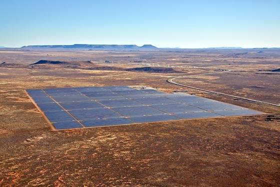 Solarkraftwerk des norwegischen ProjektentwicklersScatec Solar in Südafrika: Jetzt will das Unternehmen das erste großflächige Solarkraftwerk in Westafrika bauen.