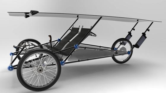 Hübsch gerendert: So in der Art soll das Solarmobil einmal aussehen, wenn die Prototypen halten, was der Erfinder sich von ihnen verspricht. Die Pedale sind bei dieser Zeichnung nicht eingebaut.