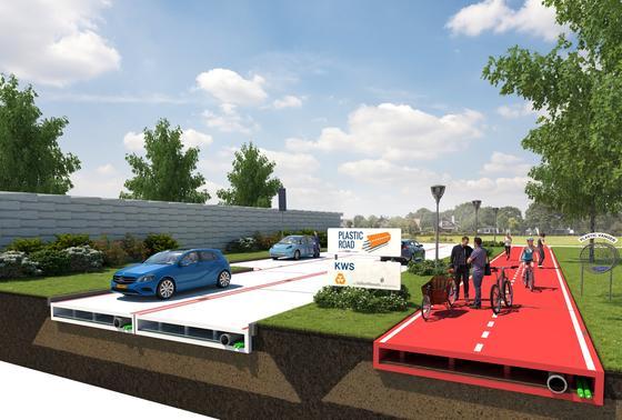 Aus recycelten Kunststoffabfällen will der holländische BaukkonzernVolkerWessels Straßen bauen. Rotterdam will nun ein Testgebiet zur Verfügung stellen.