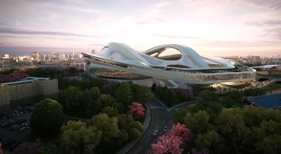Hadids Entwurf des Olympiastadions: 2012 hatte sich die Stararchitektin mit diesem Design in einem Wettbewerb durchgesetzt. Jetzt sind ihre Pläne offenbar vom Tisch.