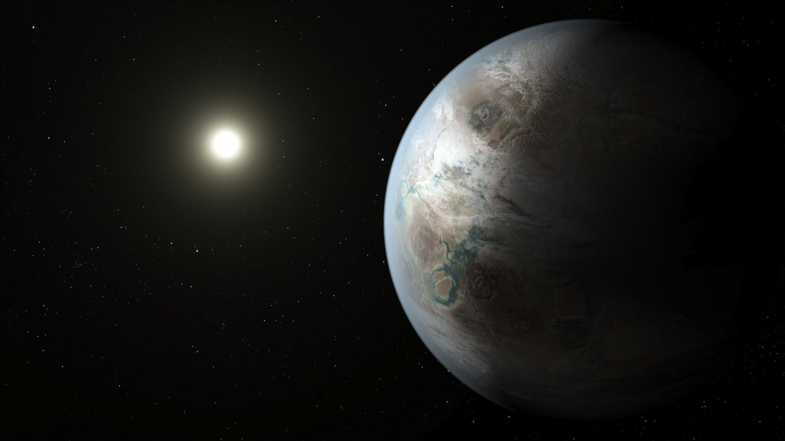Der neu entdeckte PlanetKepler 452-b ist der Erde so ähnlich wie kein anderer bekannter Planet. Auf ihm könnte es sogar flüssiges Wasser und Pflanzen geben. Das Klima könnte mit dem auf der Erde vergleichbar sein.