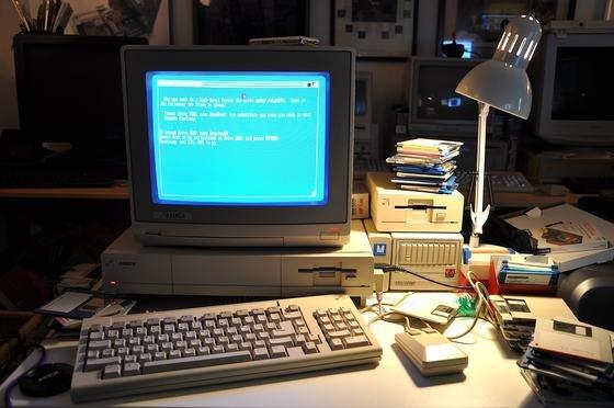 Nostalgie pur: Der Commodore Amiga 1000 kam 1985 auf den Markt – mit für heutige Verhältnisse unvorstellbaren 512 KB RAM.