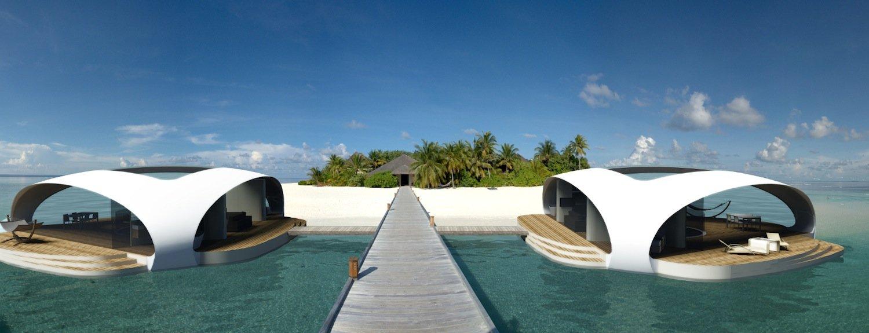 Mehrere Seascapes bilden ein Ressort: Zusatzmodule wie Sonnendecks lassen sich jederzeit anbauen.