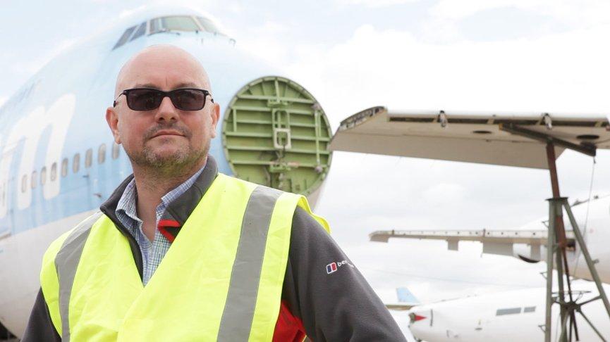 Dr. Andrew Tyas leitet das Forschungsprojekt Fly-Bag.