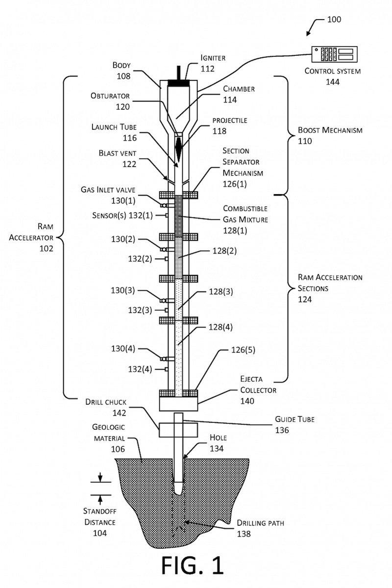 Funktionsskizze des Raketenbohrers: Er soll zehn Mal schneller sein als herkömmliche Techniken.