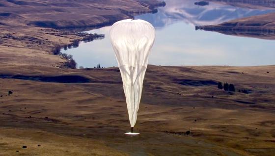 Stratosphärenballon von Google: Er steigt in eine Höhe von 20 km und kann einen Umkreis von 40 km mit schnellem Internet versorgen.