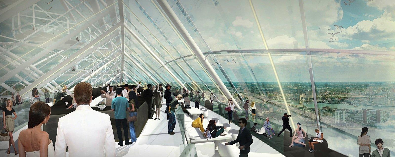 Der spektakuläre Bau soll Touristen in Scharen anziehen. 1,5 Millionen zahlende Gäste sollen es jährlich werden.