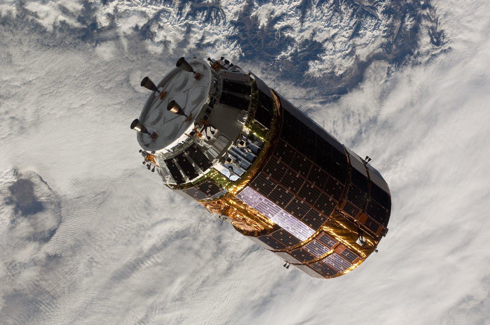 H-2 Transfer Vehicle im Weltraum: Die japanische Raumfahrtagentur Jaxa versorgt mit dem unbemannten Raumschiff das japanische Labor der ISS.