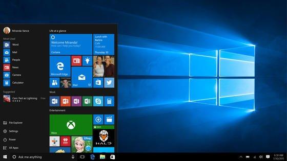 Oberfläche von Windows 10: Kritisch beäugen Datenschützer den Microsoft-Account, der ständig Userdaten an die Microsoft-Server schickt.