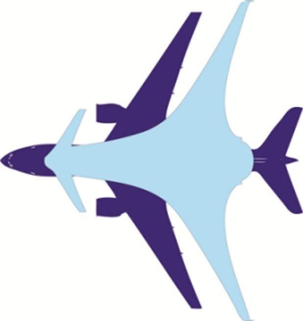 Das Ahead-Design im Vergleich zu einer Boeing 777.