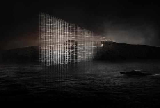 Dickes Ende: Beim Gewinner-Entwurf Concordia Lightscape sind Land und Meer miteinander verbunden. Zum Wasser hin werden die Linien immer dicker.