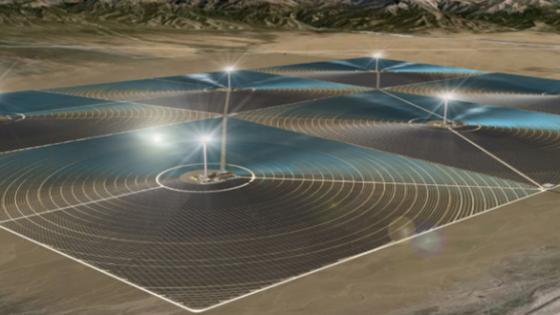 Illustration des Kraftwerks Delingha: Für den ersten Bauabschnitt, der noch in diesem Jahr beginnen soll, sind zwei Türme mit jeweils 135 MW Leistung geplant.