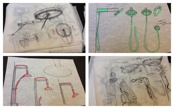 Auf der Crowdfunding-Plattform Kickstarter werden auch Skizzen von Nebia präsentiert.