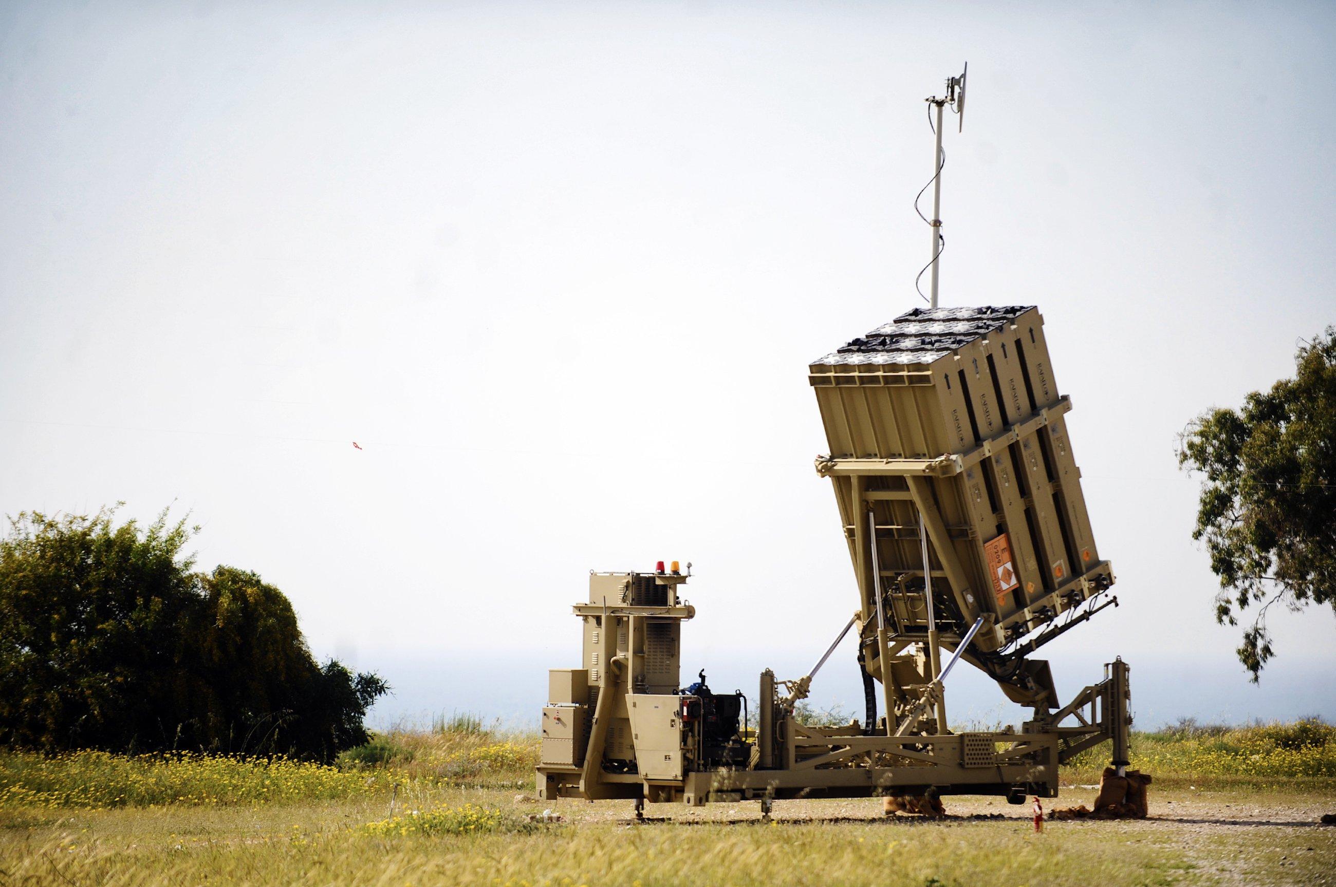 Iron Dome in Bereitschaft: Das israelische Raketenabwehrsystem fängtfeindliche Raketen und Artilleriegeschosse ab.