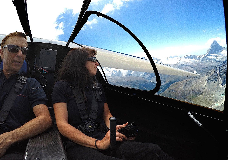 Eric und Irena Raymond während der Alpenüberquerung.