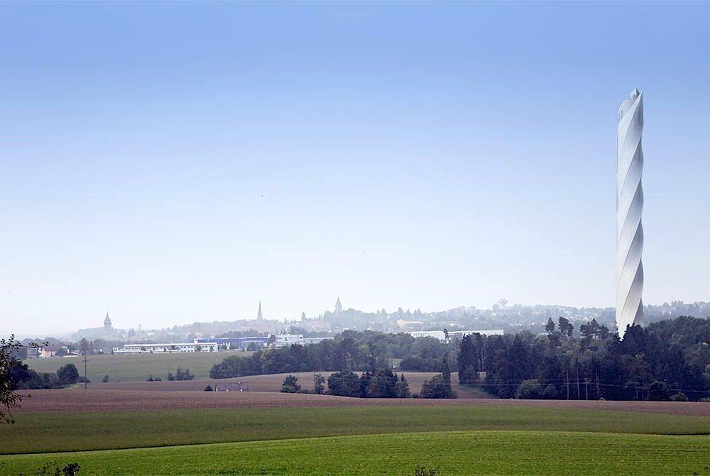 Neben seiner Funktion als Forschungs- und Entwicklungszentrum soll der Testturm zu einem attraktiven Anziehungspunkt für Touristen in Baden-Württemberg werden. Auf 232 Metern entsteht dafür Deutschlands höchste Aussichtsplattform. Der Turm wird bis Ende 2016 fertiggestellt.
