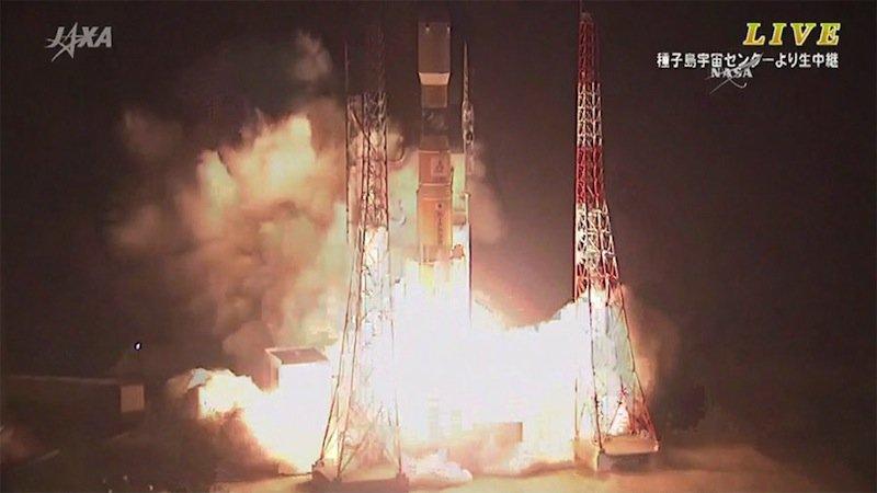 Die Trägerrakete H-IIB der japanischen Raumfahrtagentur Javastartete am Mittwoch um 7:50 a.m. EDT.Etwa 15 Minuten später schickte sie den Raumtransporter HTV-5 mit Versorgungsgütern für die ISS in die Umlaufbahn.